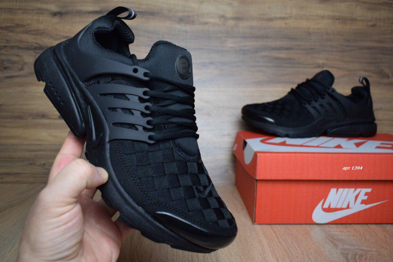 fcd71995 Мужские кроссовки в стиле NIKE Air Presto черные - Интернет-магазин