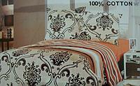 Сатиновое постельное белье полуторка ELWAY 821