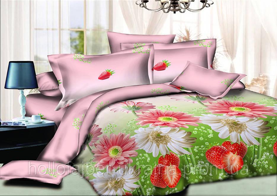 Двуспальный комплект постельного белья евро 200*220 хлопок  (9838) TM KRISPOL Украина