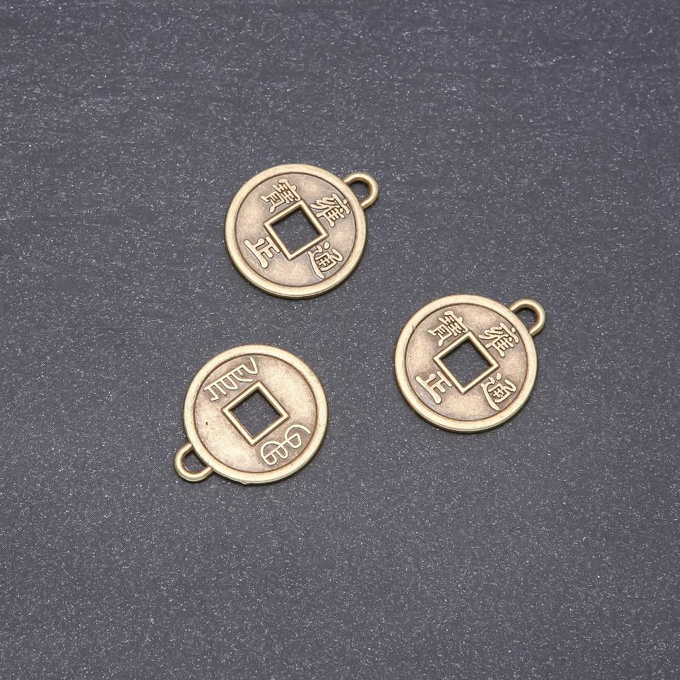 Фурнитура подвеска Китайская монета 20мм фас.20г. +- 12шт.
