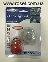 Светодиодный фонарик для самоката и велосипеда HJ008 - 2 LED Light set, фото 1
