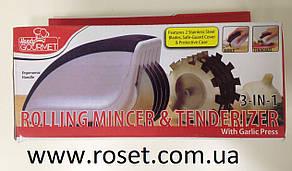 Роликовый нож с прессом - Rolling Mincer&Tenderizer 3 в 1