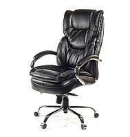 Кресло офисное на колесиках Флорида CH MB черного цвета из кожи