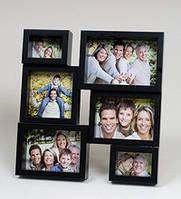 Настенная фоторамка фотоколлаж на 6 фото
