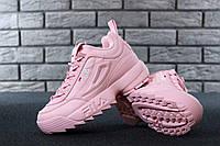 Женские кроссовки в стиле Fila Disruptor 2  розовые, фото 1