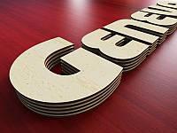 Багатошарова буква з фанери, H=150мм (Товщина фанери: 4мм; )