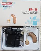 Слуховой аппарат Happy sheep HP-118 со встроенным аккумулятором и зарядным устройством, фото 1
