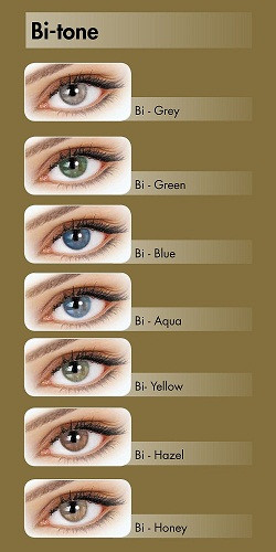 Цветные контактные линзы Adore Bi-Tone  нулевки