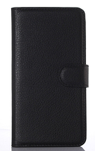 Кожаный чехол-книжка  для Lenovo A2010 черный