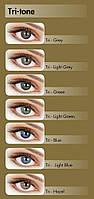 Цветные контактные линзы Adore Tri-Tone  нулевки