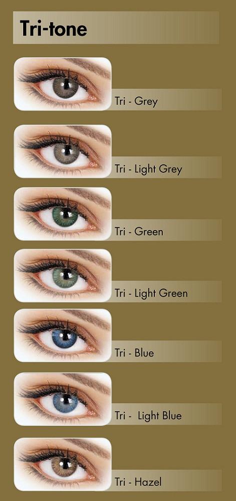 e2c3e7ce0581 Цветные контактные линзы Adore Tri-Tone нулевки