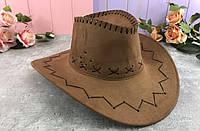 Шляпа ковбоя ковбойская замшевая шляпа Большая, черный