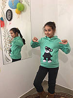 Костюм для девочки Мишка батник+брюки 122-140 см