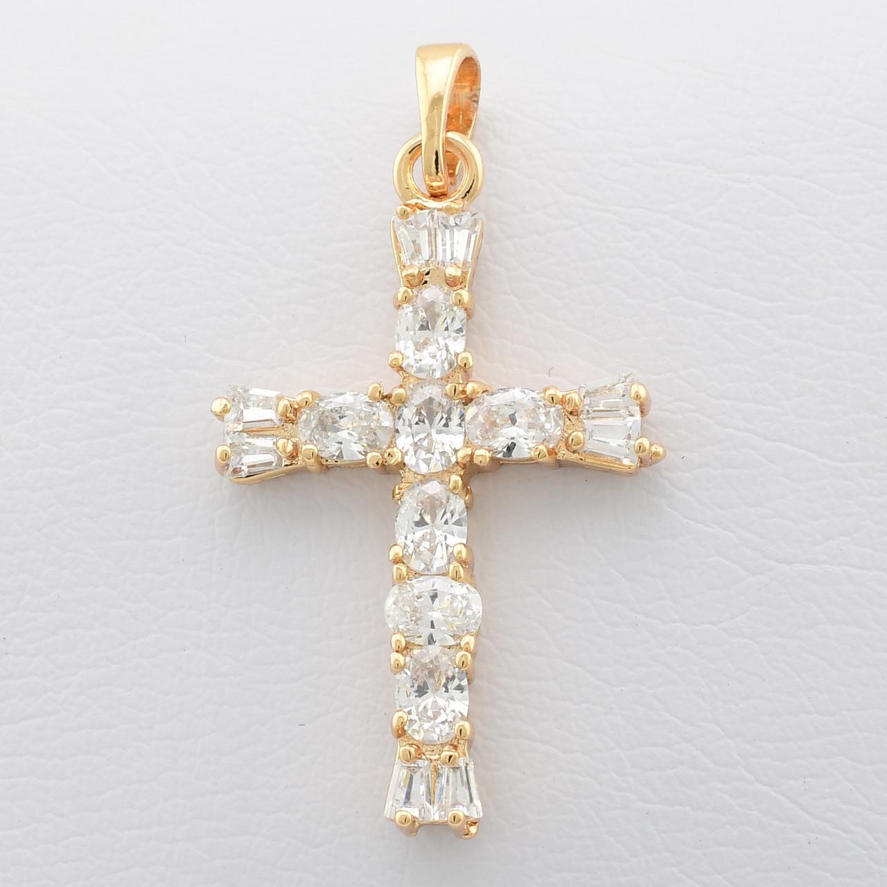 Крестик Xuping Jewelry Принцесса медицинское золото, позолота 18К. А/В 2402