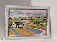 Яркое лето картина в дом яркая витраж на стекле