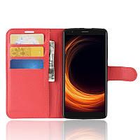 Чехол-книжка Litchie Wallet для Blackview A20 Pro Красный