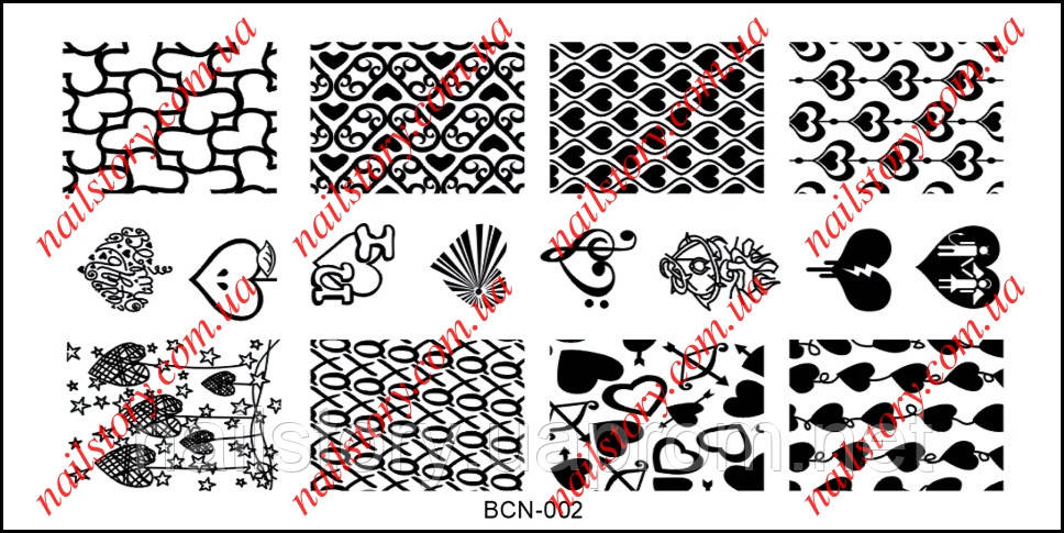 Пластина для стемпинга BCN-002