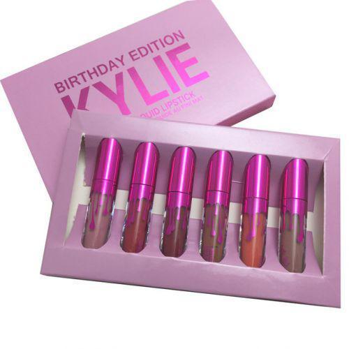 Набор жидких матовых помад 6 в 1 Kylie 8626 Birthday Edition New
