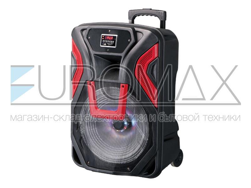 Акустическая переносная колонка EUROMAX 43х39х65см 12 дюймов 60Вт USB/SD/FM/BT/MIC EU-1204
