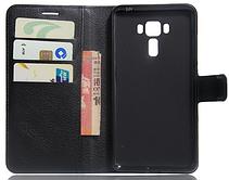 Кожаный чехол-книжка для Asus Zenfone 3 Laser ZC551KL коричневый, фото 3