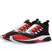 Мужские кроссовки в стиле Puma Tsugi Jun Cubism сетка черные с красным , фото 1
