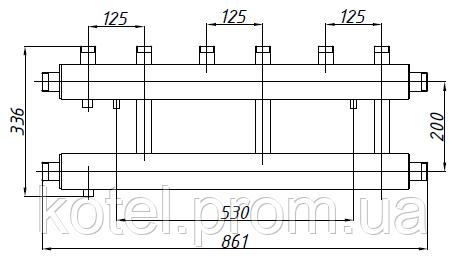 Размеры коллектора СК 312.125