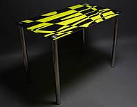 Стол стеклянный Абстракция 900