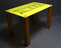 Стол стеклянный Бамбук 1100