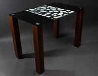 Стол стеклянный Долматинец 1100