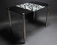 Стол стеклянный Долматинец 900