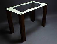 Стол стеклянный Волна 1100
