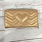 Стильный женский кошелек клатч в стиле Gucci гучи золото кожа PU, фото 5