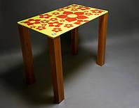 Стол стеклянный Цветение 1100