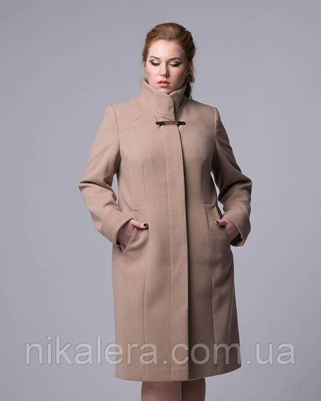 Классическое пальто с воротом стойка рр 48-56