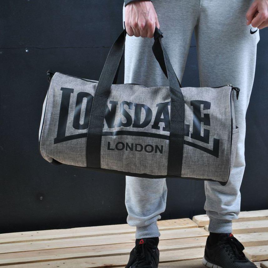 Сумка для спорта Lonsdale London Для тренировок Светло Серая Под коттон ViPvse