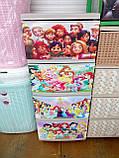 """Комод на 4 ящика с декором """"принцессы диснея 3 """"  Алеана, фото 3"""