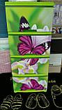 "Комод на 4 ящика с декором ""бабочка и Орхидея ""  Алеана, фото 2"