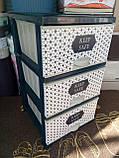 Комод пластиковый элиф keep safe  на 3 ящика, фото 3