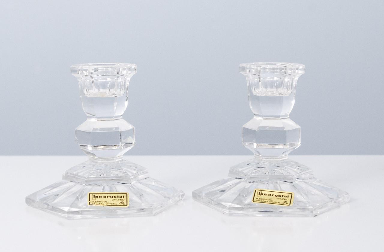 Два хрустальных подсвечника, хрусталь, Австрия, Inn crystal 24%