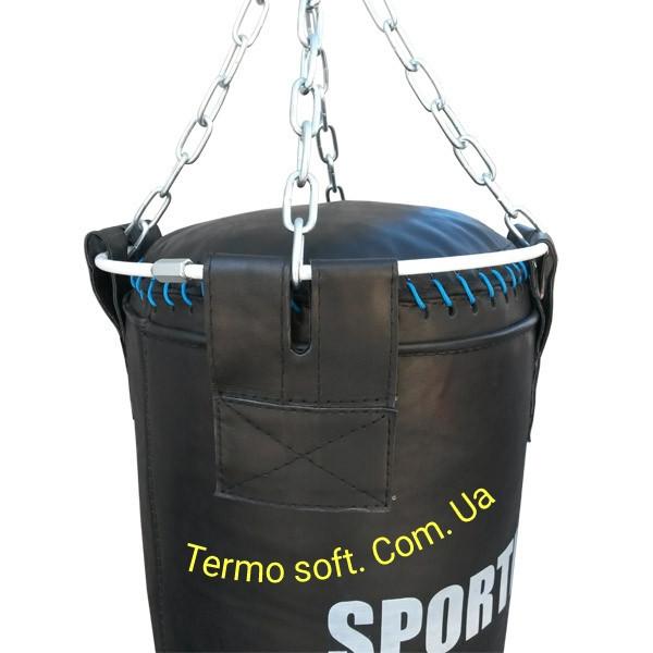 Боксерский профи мешок из ременной кожи ( 3,5 - 4 мм ) Высота 130см.Диаметр 35см. Вес 60кг.