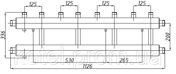 Размеры коллектора СК 412.125