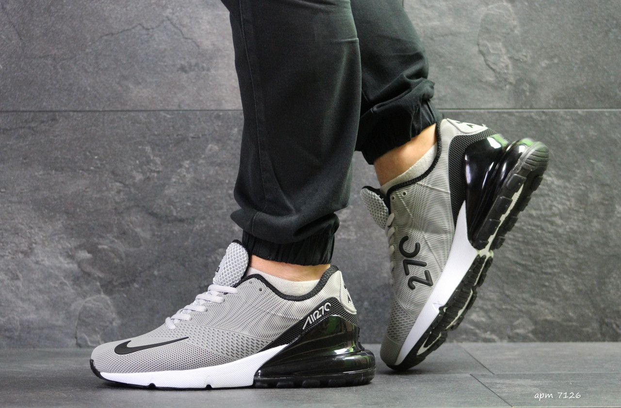 Мужские кроссовки Nike Air Max 270,серые с черным