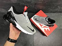 Мужские кроссовки Nike Air Max 270,серые с черным, фото 3