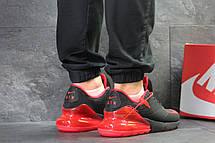 Мужские кроссовки Nike Air Max 270,черные с красным, фото 2