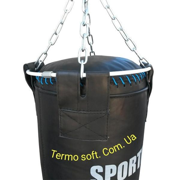 Боксерский профи мешок из ременной кожи ( 3,5 - 4 мм ) Высота 180см.Диаметр 35см. Вес 85кг.