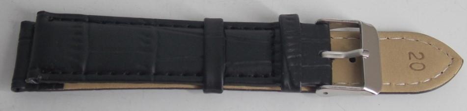 Ремешок кожаный LUX (Польша) 20 мм, черный