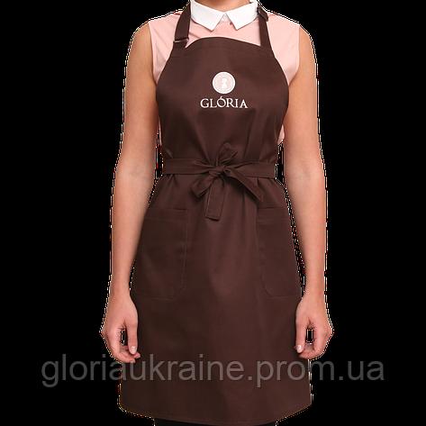 Фартук для мастера GLORIA коричневый, фото 2