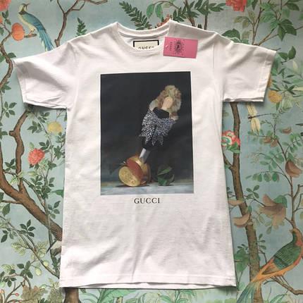 Gucci. Белая футболка Gucci • Женские и мужские футбы., фото 2