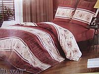 Сатиновое постельное белье полуторка ELWAY 3784