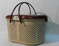 Корзина для пикника Irak Plastik SP-110 бежево-коричневый #PO, фото 1